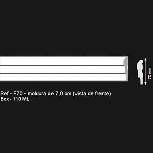 Sanca Modern F70 - Moldura 7,0 cm (Vista de Frente)